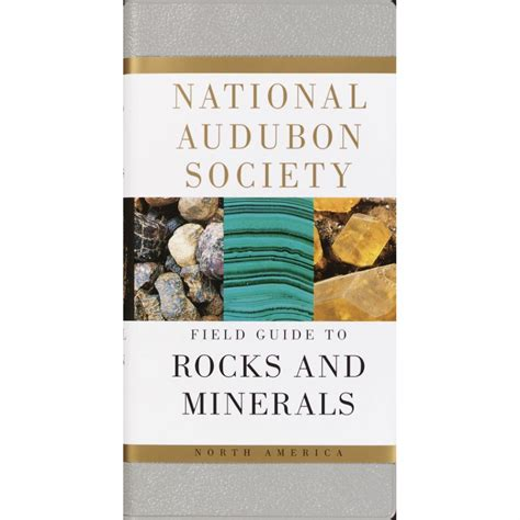 rocks minerals national audubon society field guide