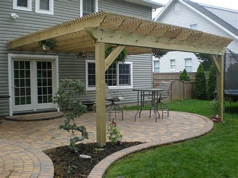 how to build a pergola attached to house be cool