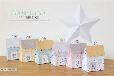 Calendrier De L Avent Diy à Imprimer Diy Calendrier De L Avent Petites Maisons Le Meilleur Du Diy