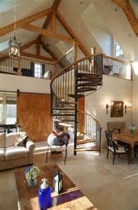 spiral staircase ideas love the design this log cabin homes interior kitsa housesa