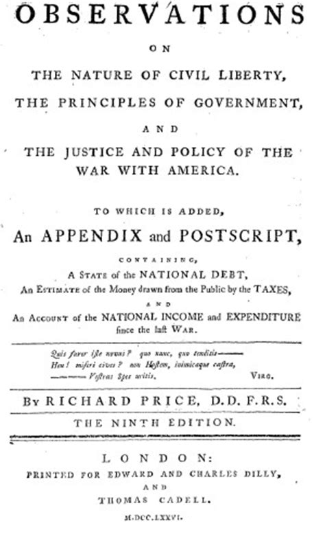 Observations on the Nature of Civil Liberty, the