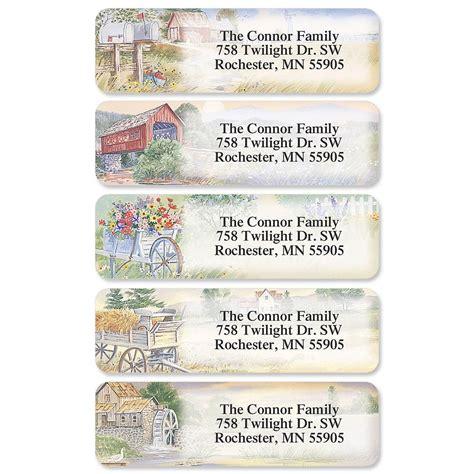 butterflies designer rolled return address labels american countryside designer rolled return address labels
