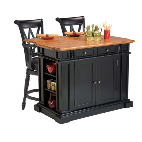 black distressed kitchen island kitchen island in black and distressed oak finish and two deluxe bar stools in black finish