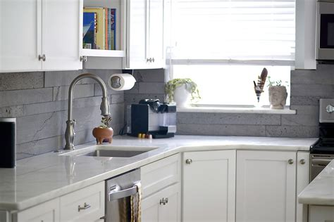 large tile kitchen backsplash large format tile in small spaces