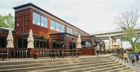 Kitchen Bars Ideas Restaurants Pop Up Inside Recycled Shipping Containers