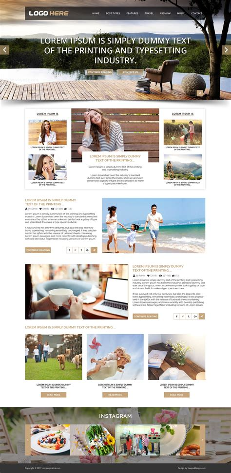 blog layout template psd blog website psd template free psd design download all