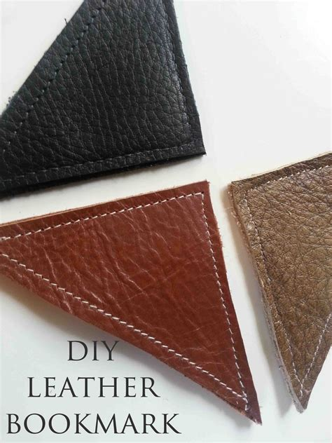 Diy Leather by Made By Me Shared With You Diy Leather Bookmark Tutorial