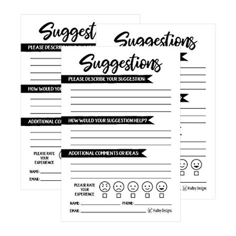 Comment Card Template For Office by 25 4x6 Feedback Comment Suggestion Card Forms For Customer
