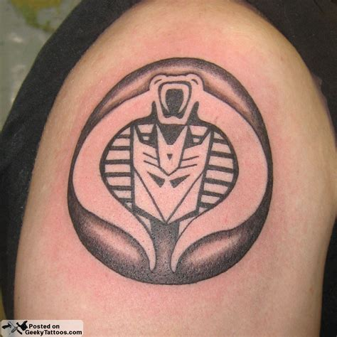 cobra decepticon tattoo geeky tattoos