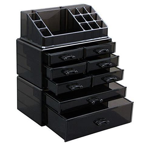Acrylic Box 2 Drawers Wide by Posh Ultimate Acrylic Makeup Organizer 7 Tier 6 Large