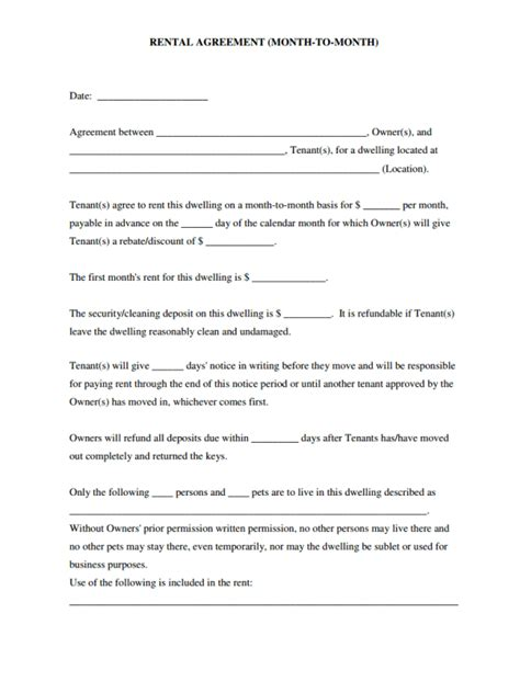 easy lease agreement template free simple lease agreement template kidscareer info