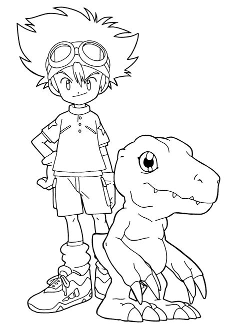 Free Printable Digimon Coloring Pages For Kids Coloring Print Pages