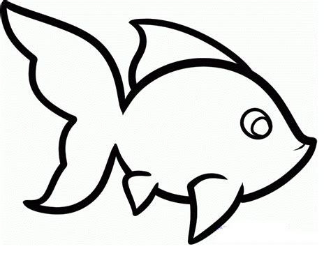 simple fish template coloring home