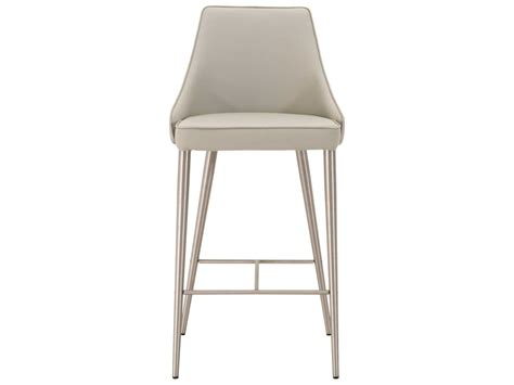 light blue leather counter stools international furniture meridian brushed
