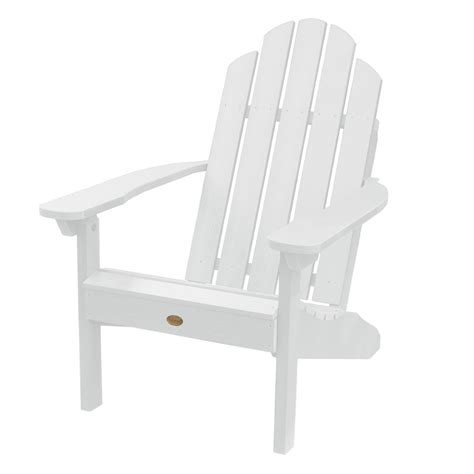 Shop Highwood Usa Westport White Plastic Patio Adirondack Plastic Patio Chairs Lowes