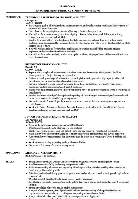 Operations Analyst Resume Exle by Sql Analyst Resume Oscarsfurniture Home Interior