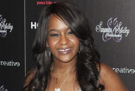 Bobbi kristina brown attends the opening night of quot the houstons on