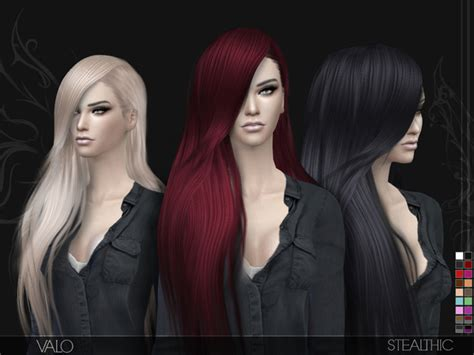 sims 4 hairstyles mods valo hair by stealthic at tsr sims 4 updates hairs for