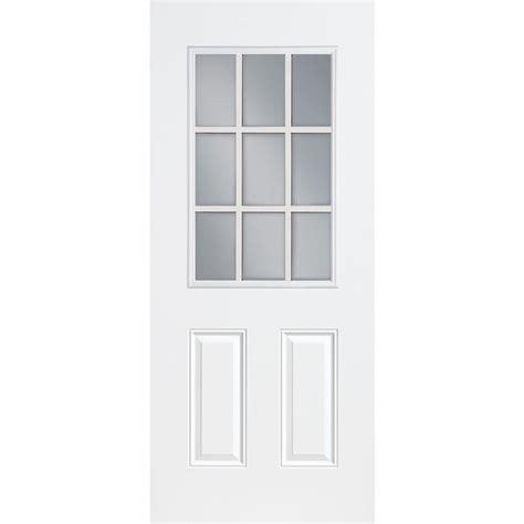 prehung exterior door home depot jeld wen 32 in x 80 in 9 lite primed fiberglass prehung