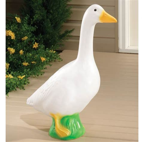 Porch Goose new large white goose 23 quot dress up plastic garden