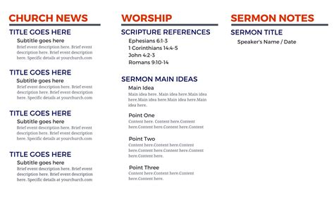 free church brochure templates for microsoft word church bulletin templates microsoft publisher template
