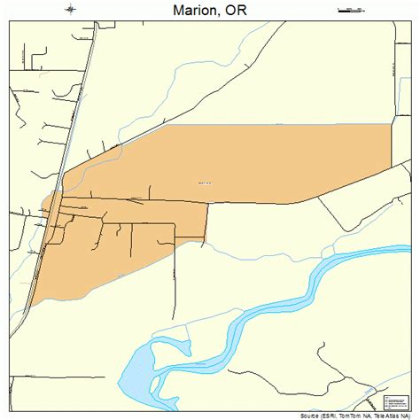 Marion County Oregon Warrant Search Marion Oregon Map 4145900