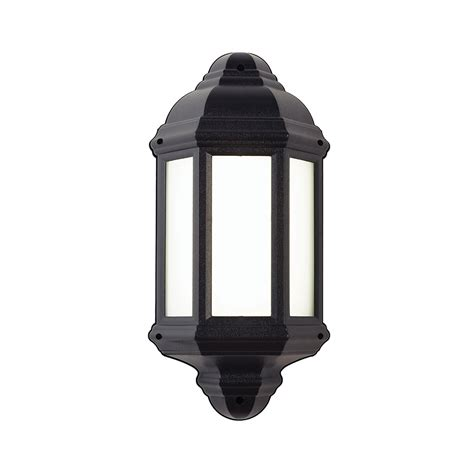 Outdoor Lantern Lights Uk Endon El 40116 Enluce Led Half Lantern Outdoor Wall Light