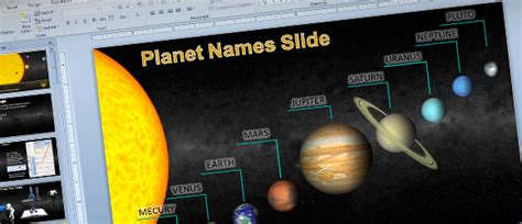 Animated Solar System Powerpoint Template For Science Astronomy Presentations Animated Ppt Templates Free For Project Presentation