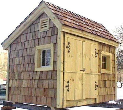 Cedar Shingle Shed by 8 X 10 Saltbox With Optional Cedar Shakes Rustic