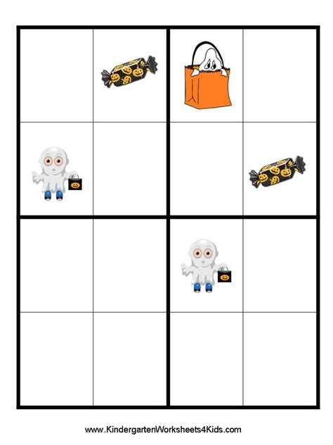 printable halloween sudoku halloween worksheets games activities and printables
