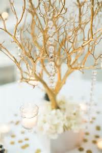 Lighted Base For Vases Gold Manzanita Branch Centerpieces Tradesy Weddings