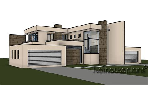 4 Bedroom House Plans South Africa home design with 4 bedrooms modern style