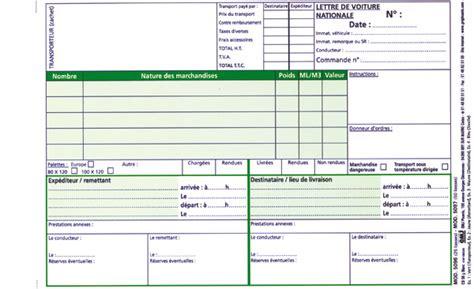 Modèle Lettre De Voiture Cmr Lettre De Voiture Nationale 5096n Vierge