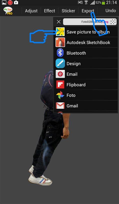 tutorial ganti background dengan picsay pro cara mudah menghilangkan background di picsay pro android