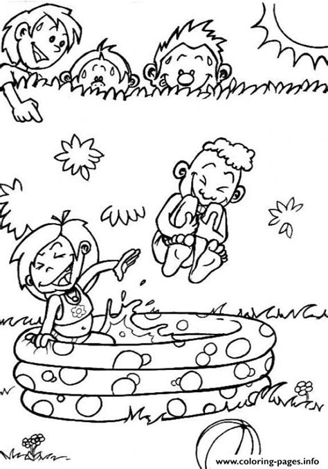 water play coloring page for kids in the summer playing water39ca coloring pages