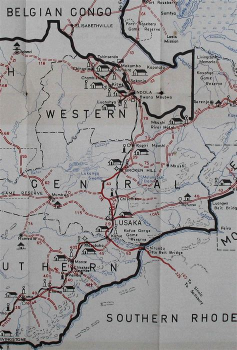 central section central section of northern rhodesia map