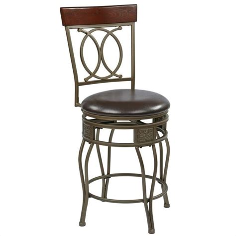 office bar stools cosmo 24 quot metal swivel counter stool in espresso csm2524 es