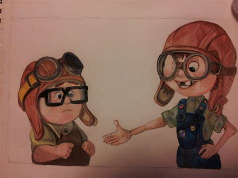 imagenes de up carl y ellie carl meets ellie by haylee darling on deviantart