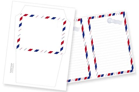 airmail writing paper airmail stationery set a printable freebie tortagialla
