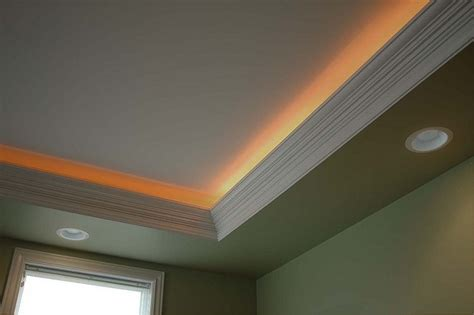 installing crown molding with led lighting crown molding lighting moldings and bedrooms
