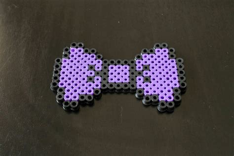 perler bead bow dreaming of dinosaurs pixelated and tulle hair bow diy