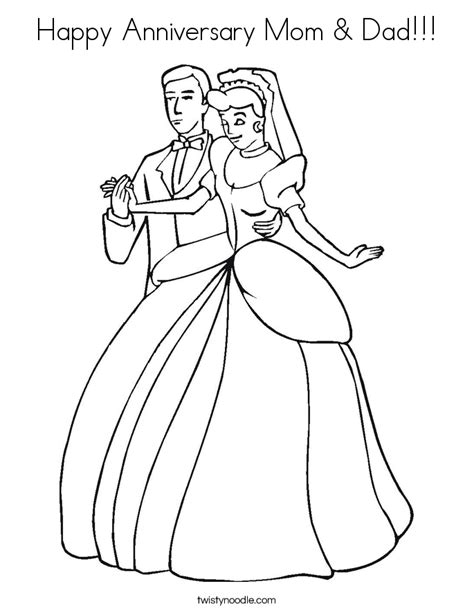 happy anniversary mom dad coloring page twisty noodle