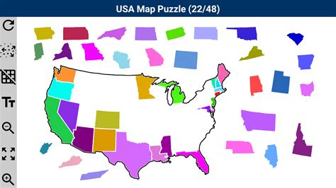 map usa puzzles free usa map puzzle android apps on play