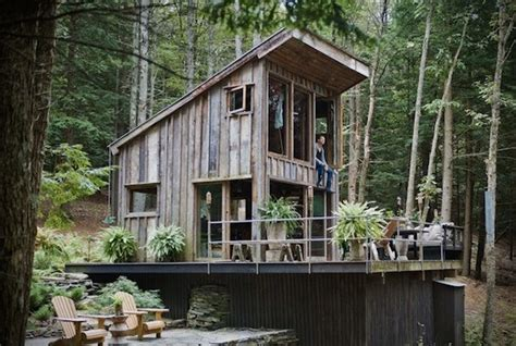300 Square Foot Cabin 300 sq ft grid cabin in woods of new york