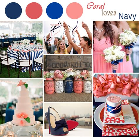 navy and coral wedding ideas navy blue and coral wedding color ideas