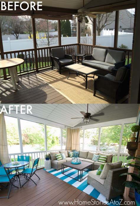 lowe s screen porch and deck makeover reveal
