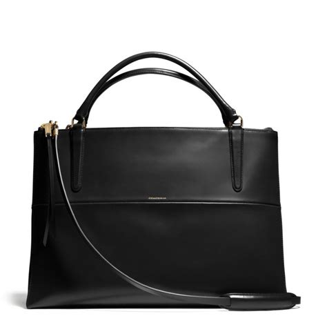 Coach Bag Black by Coach The Large Borough Bag In Polished Calfskin In Black Lyst