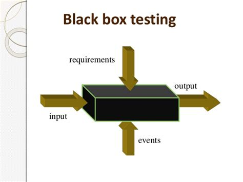 black box testing software testing technique