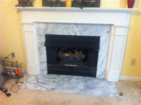 Replace Fireplace Hearth by Replacing Marble Hearth And Marble Surround On Fireplace