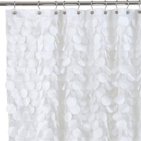 modern fabric shower curtains gigi fabric shower curtain white contemporary shower